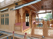居住船在克什米尔 免版税库存图片