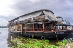 居住船在南印度 库存图片