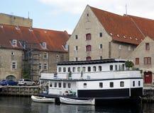 居住船,哥本哈根 库存图片