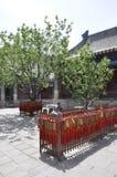 居庸关庭院汉语长城祷告地方  库存图片