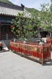 居庸关庭院汉语长城祷告地方  免版税库存图片