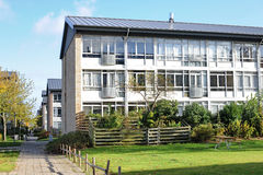 居民住房在丹麦 免版税库存照片
