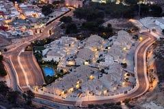 居民住房在卡塔赫钠,西班牙 免版税库存照片