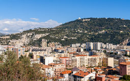 居民住房在尼斯-法国 免版税库存图片