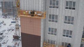 居民住房未完成的门面  门面的安装过程冬天 股票录像