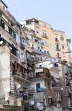 居民住房,街市那不勒斯,意大利 库存照片