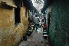 居民印度kolkata贫民窟 库存照片