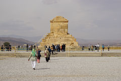 居鲁士二世, Pasargad坟茔在伊朗 库存图片