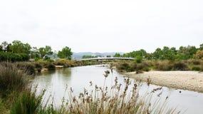 屈贝莱河公园,富瓦河 免版税库存照片