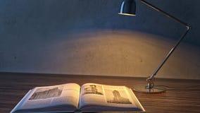 屋子的内部在微明下 登记闪亮指示 库存例证