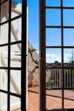 从屋子的看法阳台的 库存照片