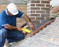 屋面防水工培训对象 免版税库存照片