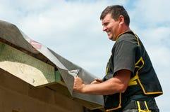 屋面防水工 库存图片