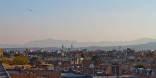 屋顶上面在Esvahan 免版税库存图片