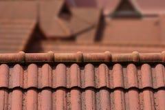 屋顶上面 免版税库存图片
