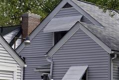 屋顶上面 免版税图库摄影