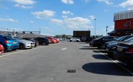 屋顶停车场 免版税库存图片