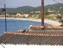 屋顶冠上科孚岛,希腊 库存图片