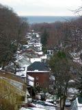 屋顶冬天 库存图片