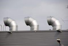 屋顶出气孔 库存图片