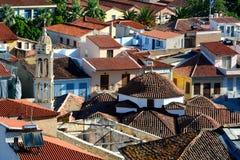 屋顶和响铃, Nafplion 免版税库存照片