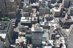 屋顶和大厦在纽约 免版税库存照片