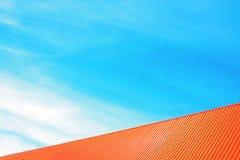 屋顶和天空 免版税图库摄影