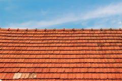 屋顶和天空 库存照片