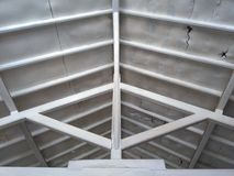 屋顶和木头 图库摄影