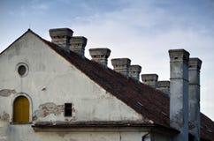 屋顶和烟囱 库存图片