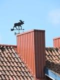 屋顶和风标,立陶宛 库存照片