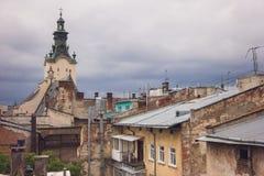 屋顶和高耸 免版税库存图片
