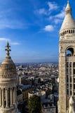 屋顶和鸟瞰图从大教堂Sacre Coeur 1 库存照片