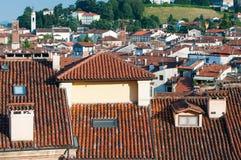 屋顶在威岑扎 免版税库存图片