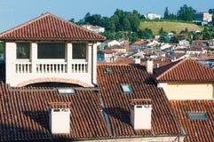 屋顶在威岑扎 免版税库存照片