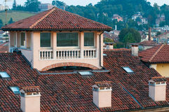 屋顶在威岑扎 库存图片