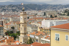 屋顶在尼斯,法国 库存照片