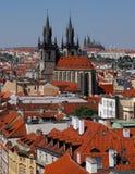 屋顶在布拉格 库存照片