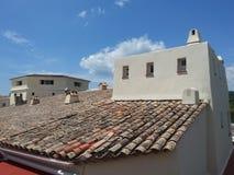 屋顶在普罗旺斯 免版税库存照片