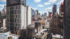 屋顶在曼哈顿NY 免版税库存图片