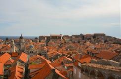 屋顶在杜布罗夫尼克,克罗地亚 免版税库存图片