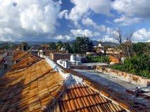 屋顶在特立尼达 免版税库存图片