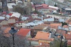 屋顶在第比利斯,乔治亚 库存图片