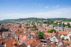 屋顶在老镇Tuebingen,德国 免版税库存图片