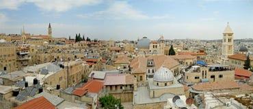 屋顶在耶路撒冷旧城 库存照片