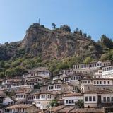 屋顶在阿尔巴尼亚 图库摄影