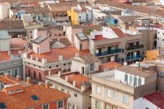 屋顶在巴伦西亚 免版税图库摄影