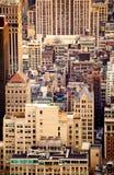 屋顶在NYC的水塔 库存照片