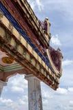 屋顶寺庙在甲米府,泰国 免版税图库摄影