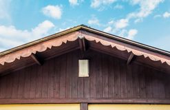 屋顶尖顶木头 库存图片